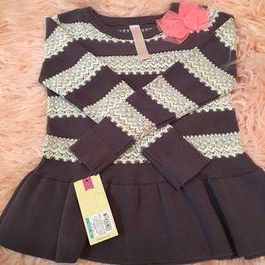 Toddler Girl Sweater w/Peplum Bottom